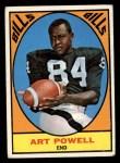 1967 Topps #17  Art Powell  Front Thumbnail