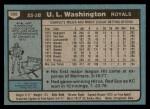 1980 Topps #508  U.L. Washington  Back Thumbnail