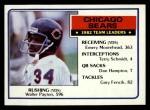 1983 Topps #28   Bears Leaders Front Thumbnail