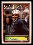 1983 Topps #118  Ken Stabler  Front Thumbnail
