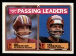 1983 Topps #202   -  Joe Theismann / Ken Anderson Passing Leaders Front Thumbnail