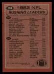 1983 Topps #204   -  Tony Dorsett / Freeman McNeil Rushing Leaders Back Thumbnail