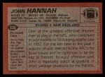 1983 Topps #330  John Hannah  Back Thumbnail