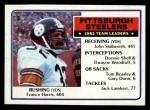 1983 Topps #355   Steelers Leaders Front Thumbnail