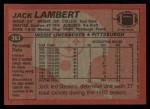 1983 Topps #363  Jack Lambert  Back Thumbnail