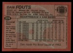 1983 Topps #374  Dan Fouts  Back Thumbnail