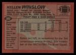 1983 Topps #382  Kellen Winslow  Back Thumbnail