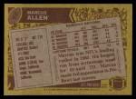 1986 Topps #62  Marcus Allen  Back Thumbnail