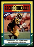1986 Topps #2  Eric Dickerson  Front Thumbnail