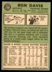 1967 Topps #298 DOT Ron Davis  Back Thumbnail