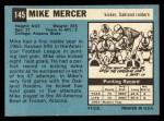 1964 Topps #145  Mike Mercer  Back Thumbnail