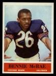 1964 Philadelphia #21  Bennie McRae   Front Thumbnail