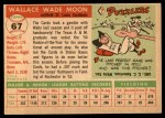 1955 Topps #67 DOT Wally Moon  Back Thumbnail