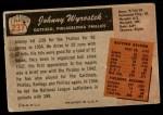 1955 Bowman #237  John Wyrostek  Back Thumbnail