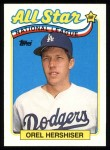 1989 Topps #394   -  Orel Hershiser All-Star Front Thumbnail