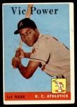 1958 Topps #406  Vic Power  Front Thumbnail
