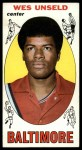 1969 Topps #56  Wes Unseld  Front Thumbnail