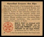 1950 Bowman Wild Man #4   Hannibal Crosses the Alps Back Thumbnail