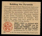 1950 Bowman Wild Man #13   Building the Pyramids Back Thumbnail