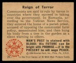 1950 Bowman Wild Man #21   Reign of Terror Back Thumbnail