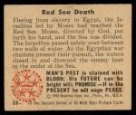 1950 Bowman Wild Man #38   Red Sea Death Back Thumbnail