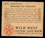 1949 Bowman Wild West #2 B  Running the Gauntlet Back Thumbnail