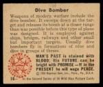 1950 Bowman Wild Man #56   Dive Bomber Back Thumbnail