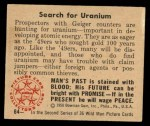 1950 Bowman Wild Man #64   Search for Uranium Back Thumbnail