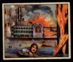 1949 Bowman Wild West #10 G  Steamboat Burns Bridge Front Thumbnail