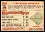 1956 Topps #90 CEN  Reds Team Back Thumbnail