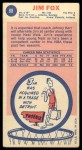 1969 Topps #88  Jim Fox      Back Thumbnail