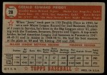 1952 Topps #28  Jerry Priddy  Back Thumbnail