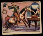 1949 Bowman Wild West #6 E  Pony in the Parlor Front Thumbnail