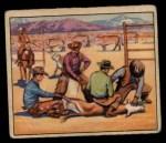 1949 Bowman Wild West #7 E  Branding Calf Front Thumbnail