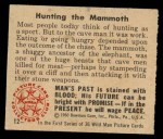 1950 Bowman Wild Man #12   Hunting the Mammoth Back Thumbnail