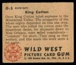 1949 Bowman Wild West #3 G  King Cotton Back Thumbnail
