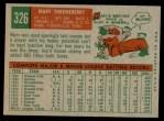 1959 Topps #326  Marv Throneberry  Back Thumbnail