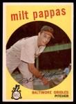 1959 Topps #391  Milt Pappas  Front Thumbnail