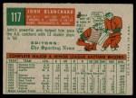 1959 Topps #117  John Blanchard  Back Thumbnail