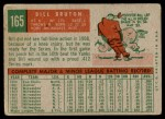 1959 Topps #165  Billy Bruton  Back Thumbnail