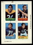 1969 Topps 4-in-1 Football Stamps  Andy Russell / Randy Johnson / Alex Karras / Bob Matheson  Front Thumbnail