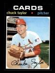 1971 Topps #606  Chuck Taylor  Front Thumbnail