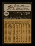 1973 Topps #635  Gene Alley  Back Thumbnail