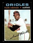 1971 Topps #640  Frank Robinson  Front Thumbnail