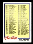 1978 Topps #652   Checklist 6 Front Thumbnail