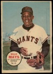 1967 Topps Poster Pin-Up Poster #12  Willie Mays  Front Thumbnail
