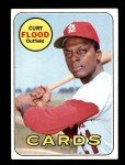 1969 Topps #540   -  Curt Flood    Front Thumbnail