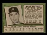 1971 Topps #483  Gene Michael  Back Thumbnail