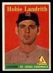 1958 Topps #24 YN Hobie Landrith  Front Thumbnail