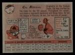 1958 Topps #33 YT Cal Neeman  Back Thumbnail